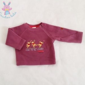 Sweat polaire prune Winnie bébé garçon 3 MOIS DISNEY