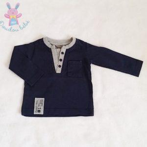 T-shirt bleu marine gris bébé garçon 3 MOIS TAPE A L'OEIL