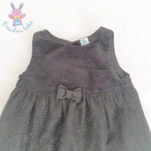 Robe de fête noire et paillettes bébé fille 9 MOIS
