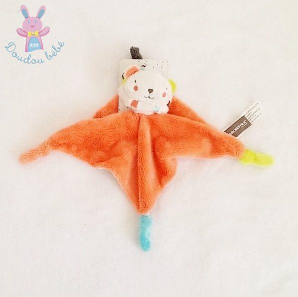 Doudou plat Lion orange ORCHESTRA