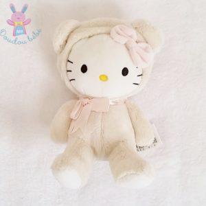 Doudou Chat Hello Kitty déguisé en ours beige SANRIO H&M