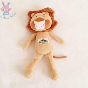 Doudou Lion marron beige LE ROI DU MATELAS