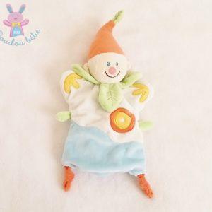 Doudou marionnette Lutin Clown Arlequin coloré BABY LUNA