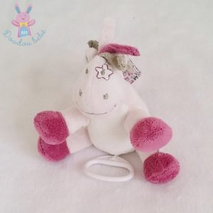 Doudou Cheval musical rose framboise Victoria et Lucie NOUKIE'S