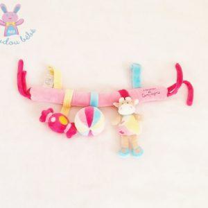Trapèze rose Vache bonbon jouet éveil bébé DOUDOU ET COMPAGNIE