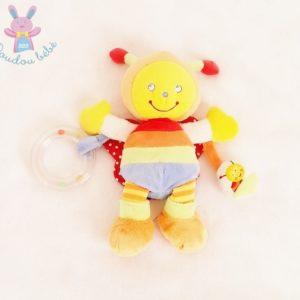 Doudou Abeille colorée jouet éveil bébé POMMETTE