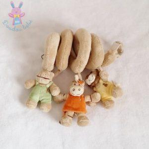 Spirale d'activités Zèbre Zamba beige jouet éveil bébé NOUKIE'S