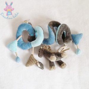 Spirale d'activités Cheval gris bleu jouet éveil bébé PERICLES