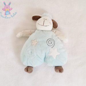 Doudou Mouton bleu spirales étoiles KIMBALOO