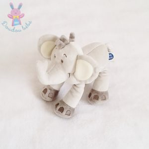 Doudou éléphant gris et écru MOTS D'ENFANTS