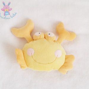 Doudou Crabe jaune et orange MOTS D'ENFANTS