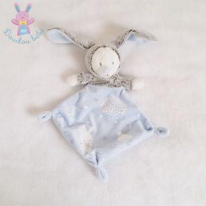 Doudou plat Ours lapin bleu luminescent MOTS D'ENFANTS