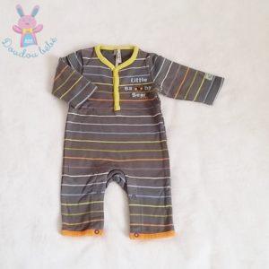 Combinaison rayée grise bébé garçon 1 MOIS ORCHESTRA