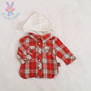 Chemise à carreaux capuche bébé garçon 1 MOIS