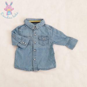 Chemise jean bleu bébé garçon 1 MOIS