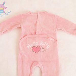 Pyjama velours rose bébé fille 3 MOIS HELLO KITTY