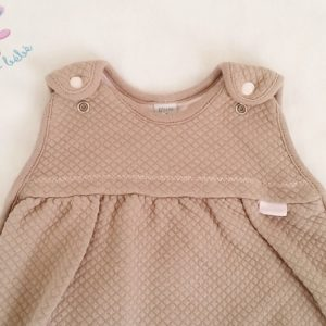 Gigoteuse coton taupe rose 0/4 MOIS RED CASTLE