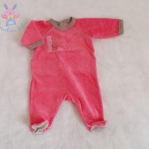 Pyjama velours bébé fille Naissance PETIT BATEAU