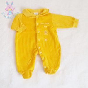Pyjama velours jaune bébé garçon 1 MOIS
