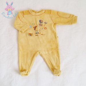 Pyjama velours moutarde bébé garçon 1 MOIS ABSORBA