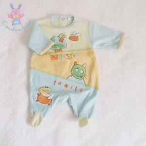 Pyjama velours coloré monster bébé garçon 0 MOIS