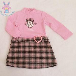 Robe rose et carreaux Minnie bébé fille 12 MOIS DISNEY