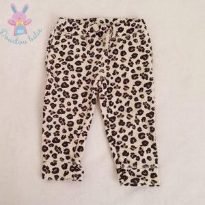 Pantalon de jogging beige tigré bébé fille 18 MOIS
