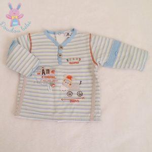 T-shirt manches longues rayé bébé garçon 3 MOIS ABSORBA