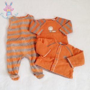 Ensemble Pyjama et 2 hauts orange bébé garçon 3 MOIS P'TIT BISOU