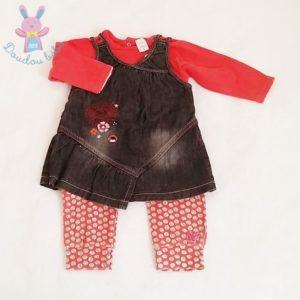 Ensemble Legging long + Robe jean bébé fille 6 MOIS ABSORBA