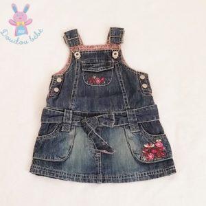 Robe bretelles en jean bleu bébé fille 6 MOIS