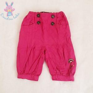 Pantalon doublé fuchsia bébé fille 6 MOIS ORCHESTRA