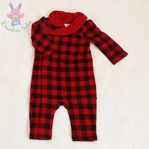 Combinaison à carreaux rouge noir bébé fille 6 MOIS RALPH LAUREN