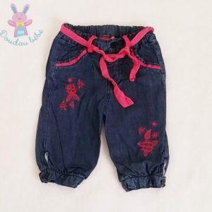 Pantalon bleu marine et fuchsia bébé fille 6 MOIS