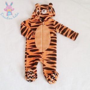 Combinaison polaire Lion orange marron bébé garçon 6 MOIS