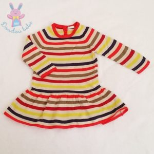 Robe manches longues mailles rayé fille 9/12 MOIS BENETTON