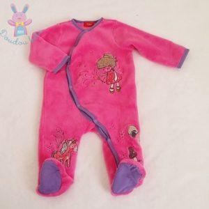 Surpyjama polaire rose Fée Licorne bébé fille 9 MOIS