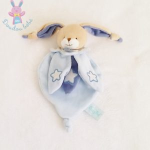 Doudou plat Lapin bleu étoiles luminescent BABY NAT