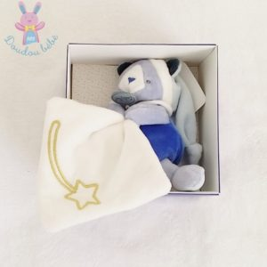 Doudou Ours Les Comètes bleu étoiles luminescent BABY NAT
