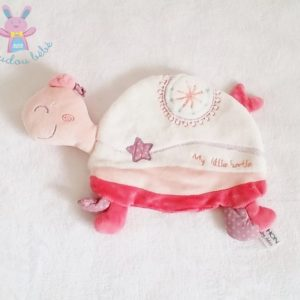 Doudou plat Tortue rose Little turtle SAUTHON