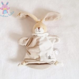 Doudou marionnette Lapin beige Un rêve de bébé