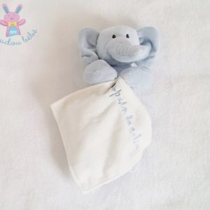 Doudou éléphant bleu blanc Copain calin MAXITA
