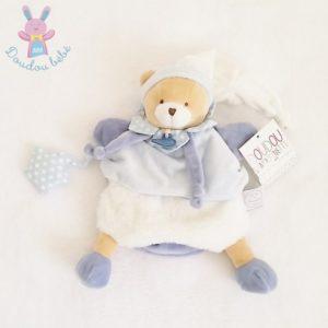 Marionnette Ours Petit Chou bleu blanc DOUDOU ET COMPAGNIE
