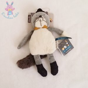 Doudou Chat Les Moustaches gris blanc MOULIN ROTY