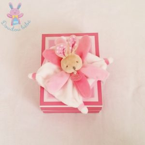 Lapin plat rose collector DOUDOU ET COMPAGNIE