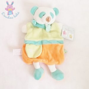 Panda vert orange Petit Secret DOUDOU ET COMPAGNIE
