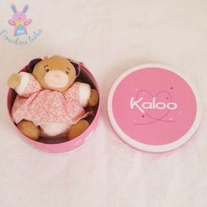 Doudou Ours boule Petite Rose beige fleurs KALOO
