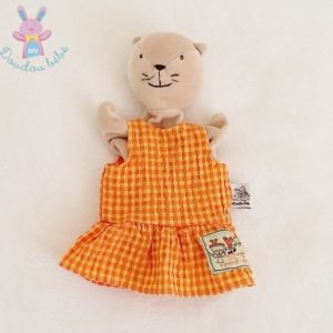 Doudou marionnette Chat Grande famille MOULIN ROTY