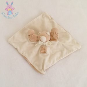 Doudou plat Ours marionnette beige MOULIN ROTY