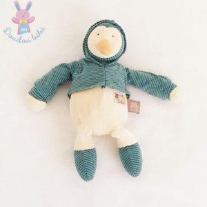 Doudou Pingouin rayé bleu Les Loupiots MOULIN ROTY
